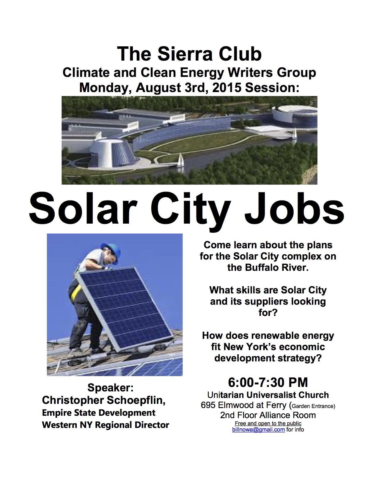 Solar City Jobs | Sierra Club Niagara Group