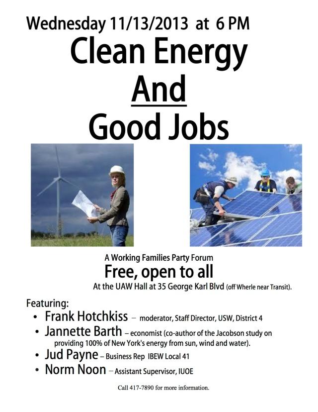 Clean Energy Forum - November 13, 2013