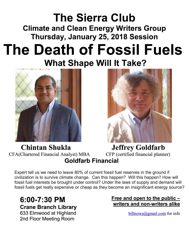 2018 01 25 Death of Fossil Fuels