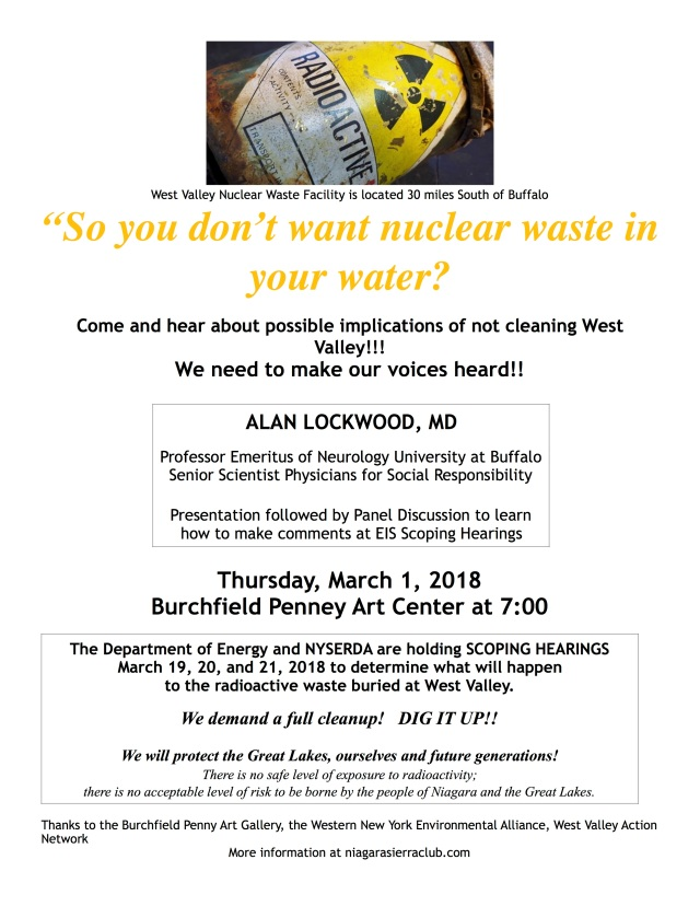 SO YOU DON'T WANT NUCLEAR WASTE . . .
